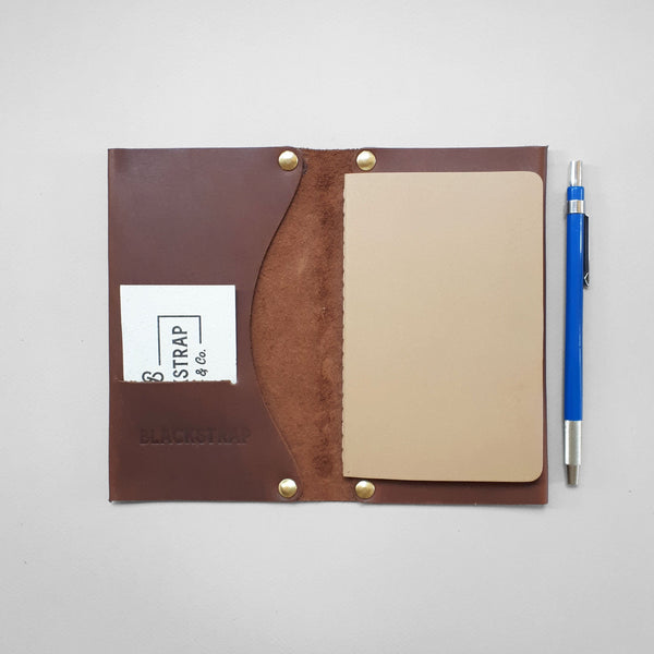 Blackstrap Cloth & Co Leather Notebook Cover/Passport Holder