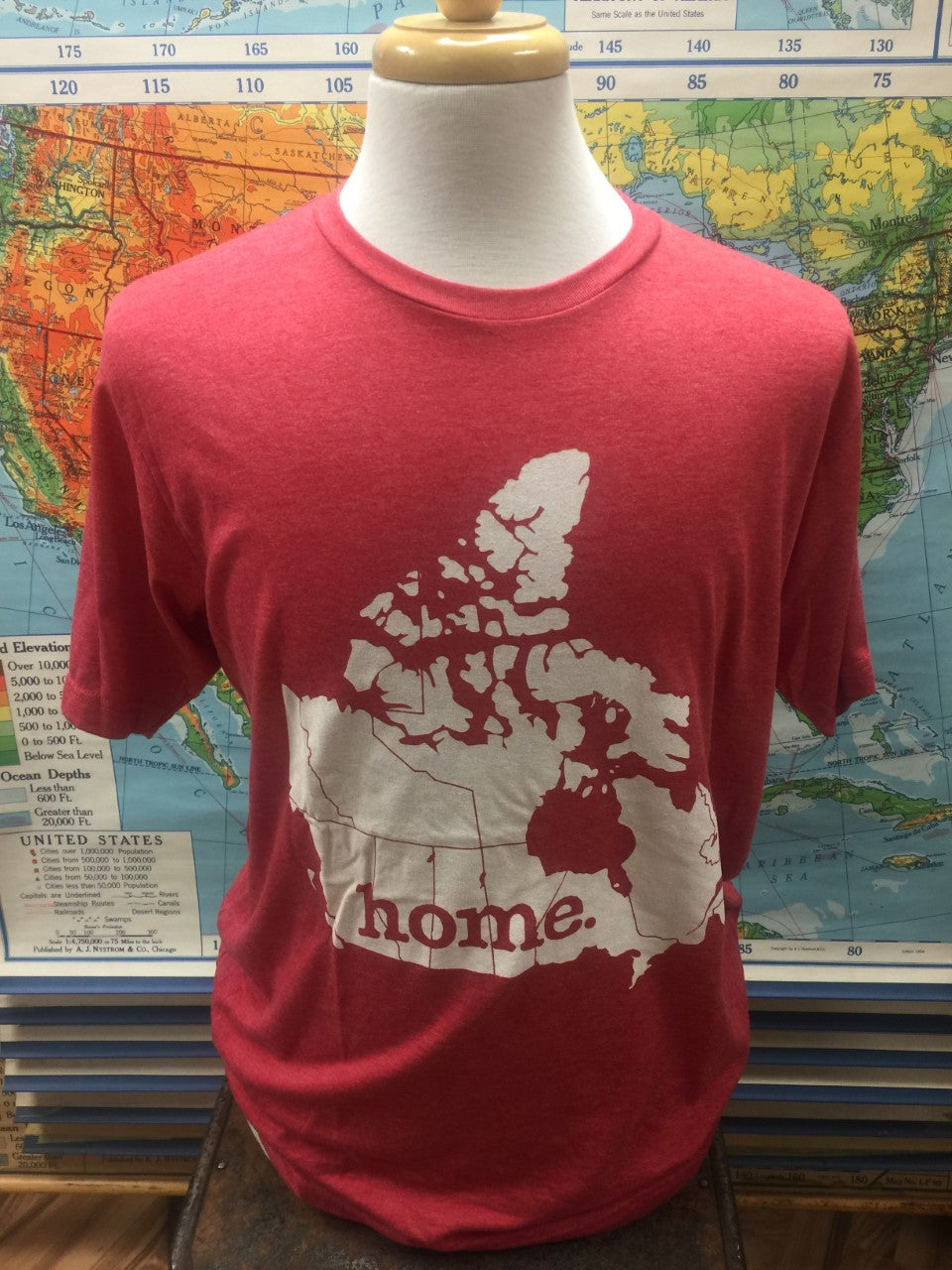 "Canada ""Home"" Tee Red"