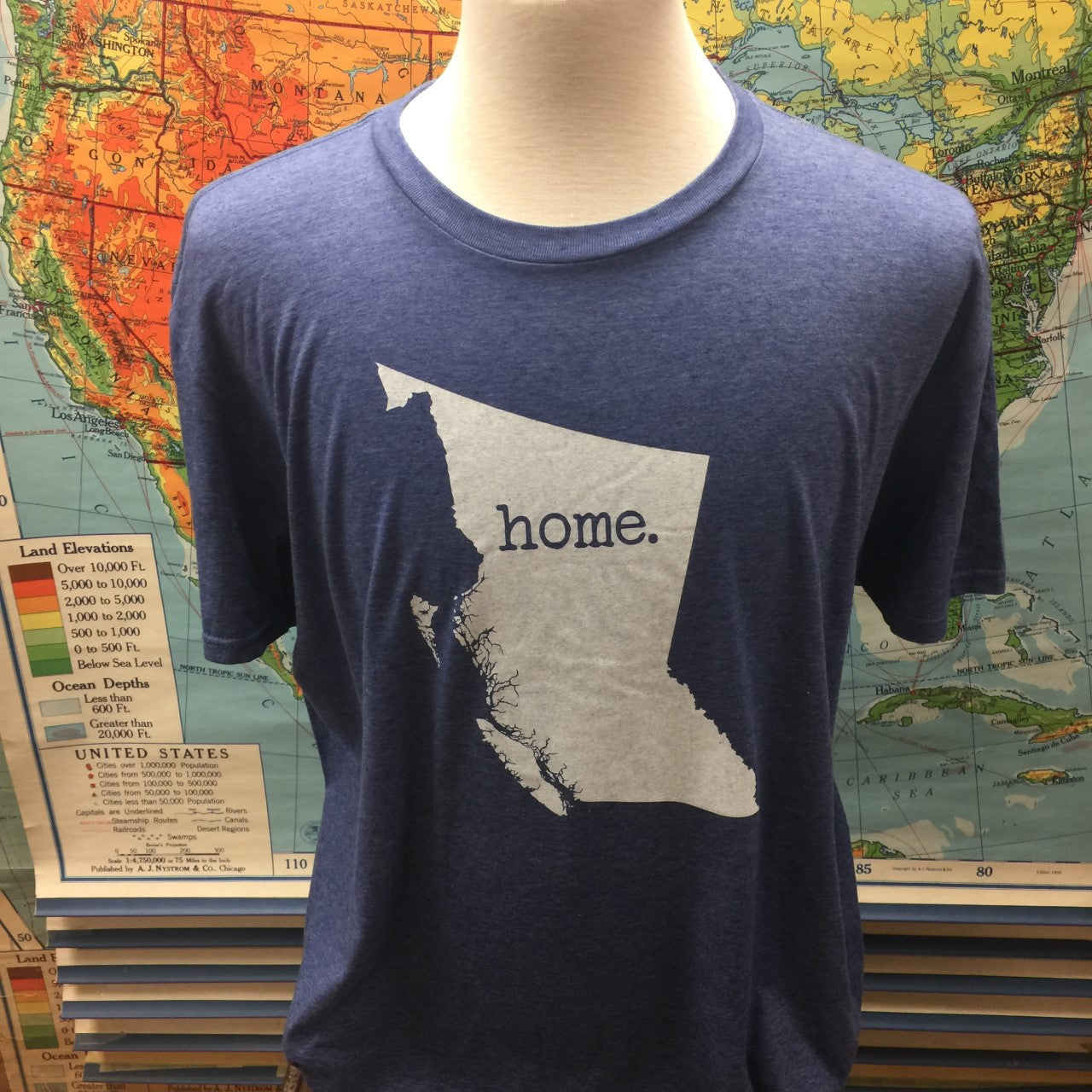 "BC ""Home"" Tee Heather Blue"