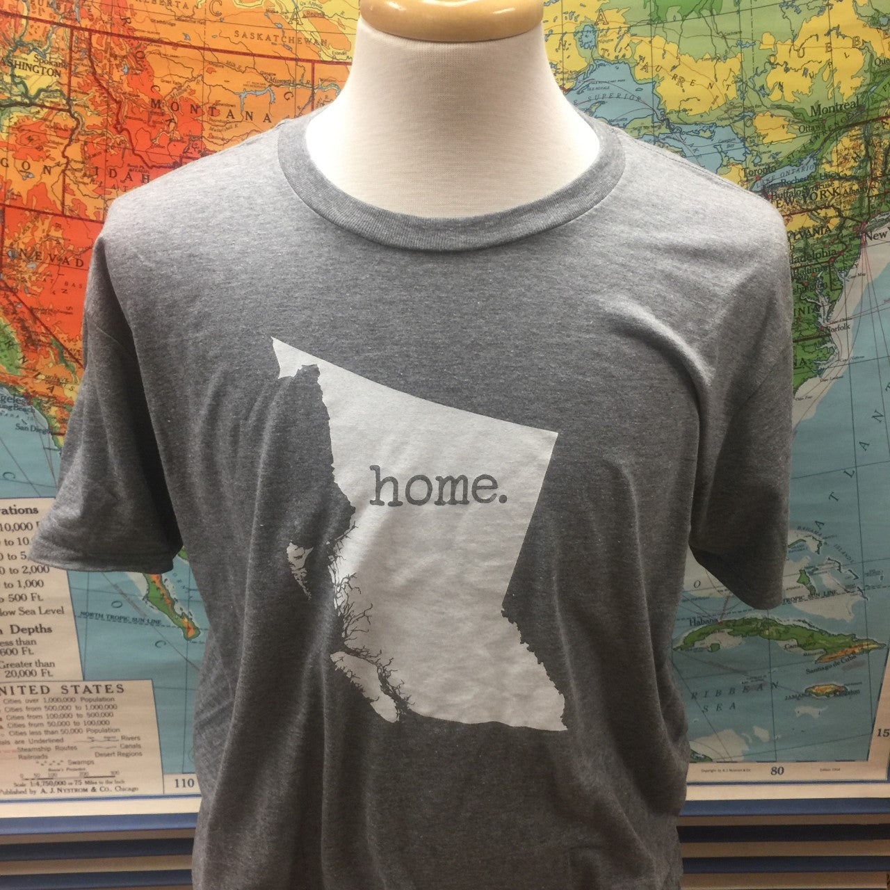"BC ""Home"" Tee Light Grey"
