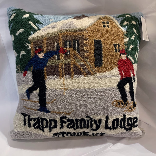 Custom Trapp Family Lodge Cabin Pillow