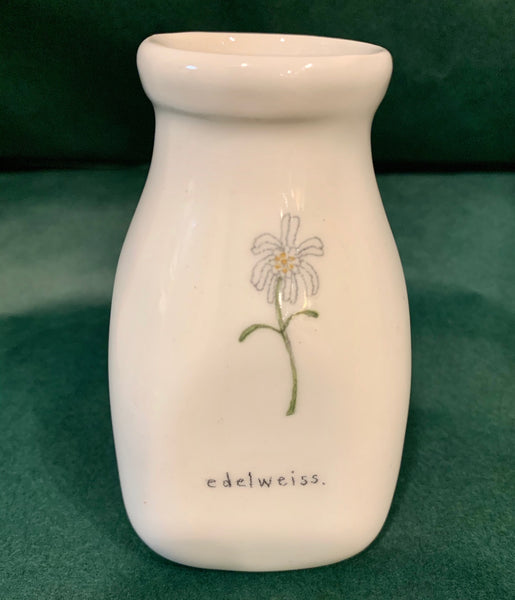 Small Ceramic Edelweiss Vase
