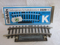 Marklin HO 2229 K Track Curved Circuit Switching Section