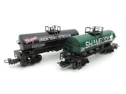 "Marklin HO 4581 ""Texas Pacific & Shamrock"" 2 Tank Car Set. Rare edition in 1995"