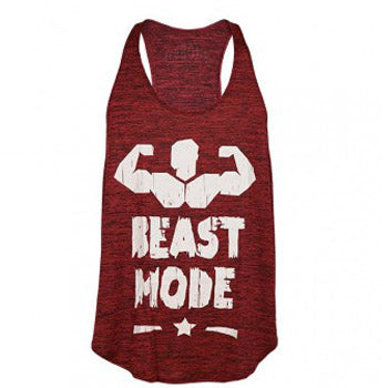 Camiseta tirantes Beast Mode Granate
