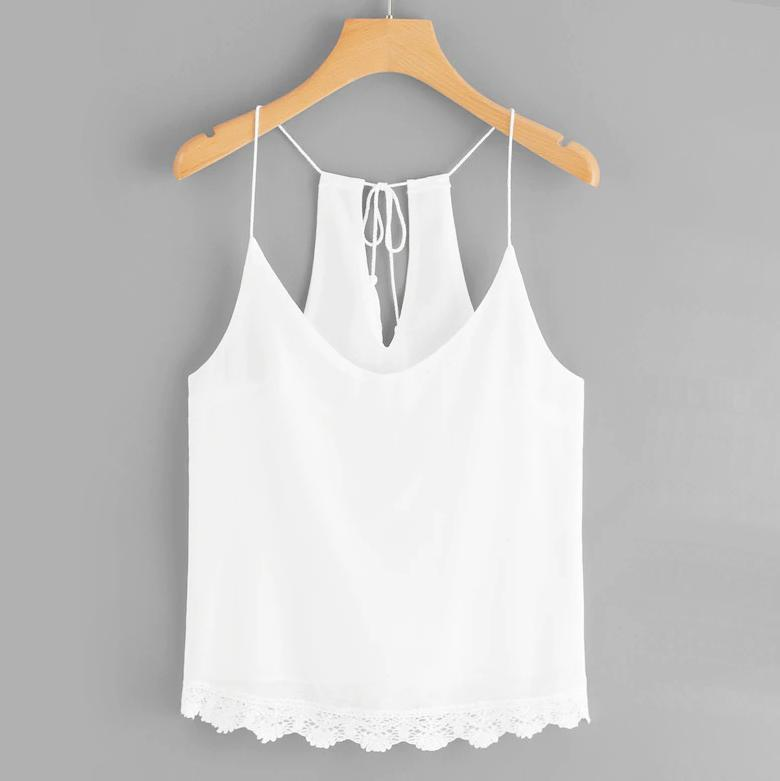 Lace & Tassel Tank Top