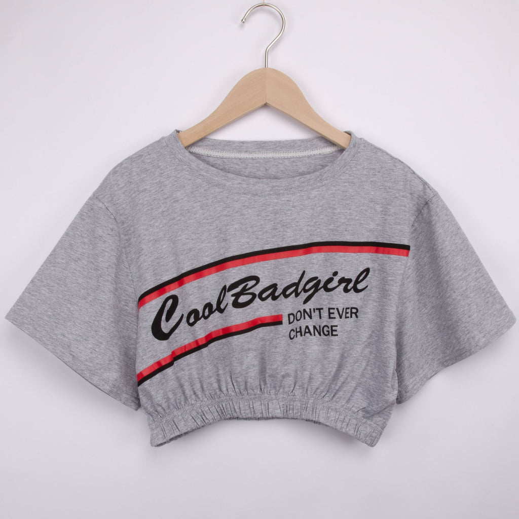 COOL BAD GIRL Crop T-Shirt