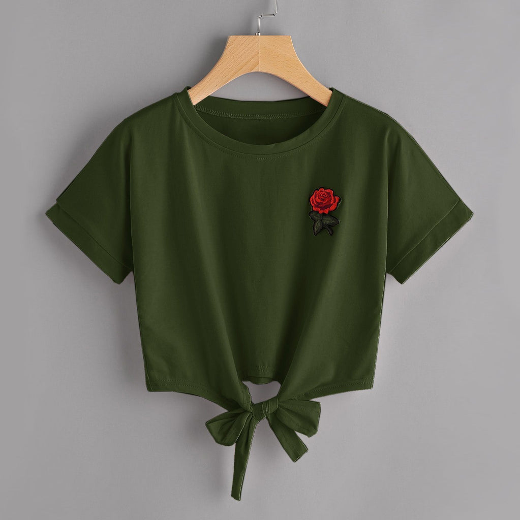 Rose Bow Tie T-Shirt