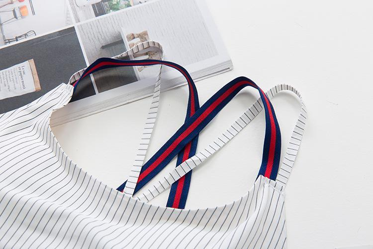 Comfortable Breathable Striped Bra