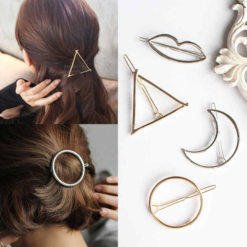 Geometric Hair Clips (12 Shapes)