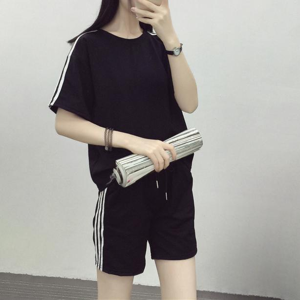 Striped T-Shirt & Shorts Set