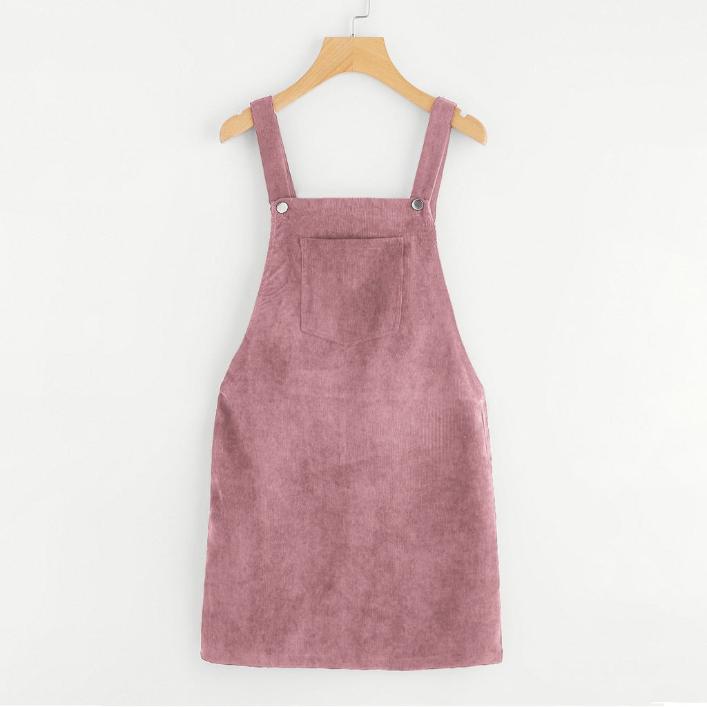 Pinafore Corduroy Dress