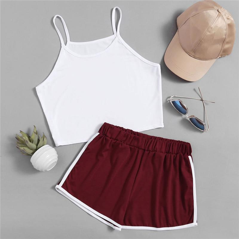 Tank Top & Ringer Shorts Set