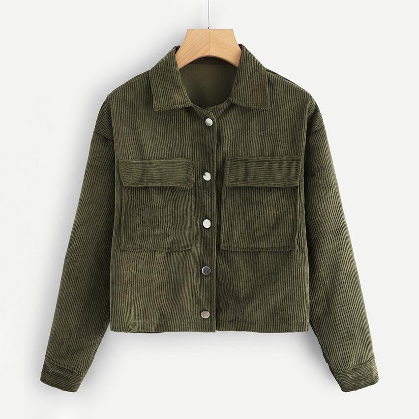 Dual Pocket Corduroy Coat