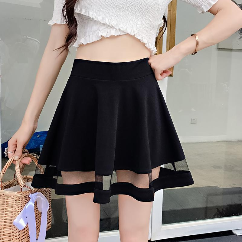 Mesh Patchwork Mini Skirt