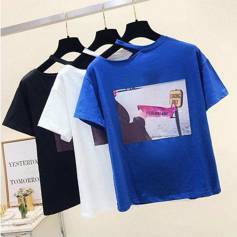 One Shoulder Open T-Shirt