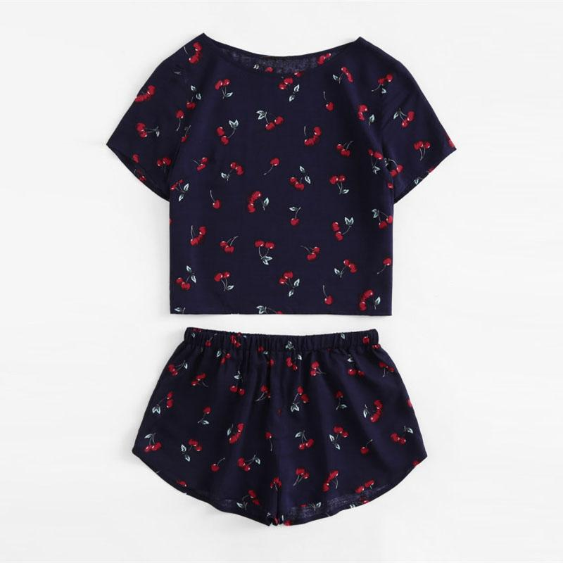 Cherry Pajama Set (Two Pieces)