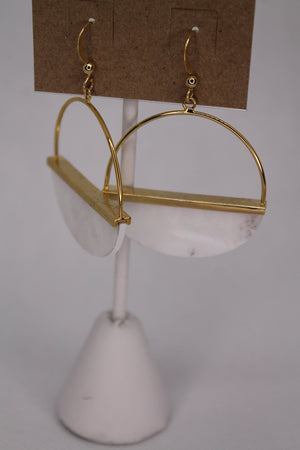 Iridescent Gold Semi Circle Hoops
