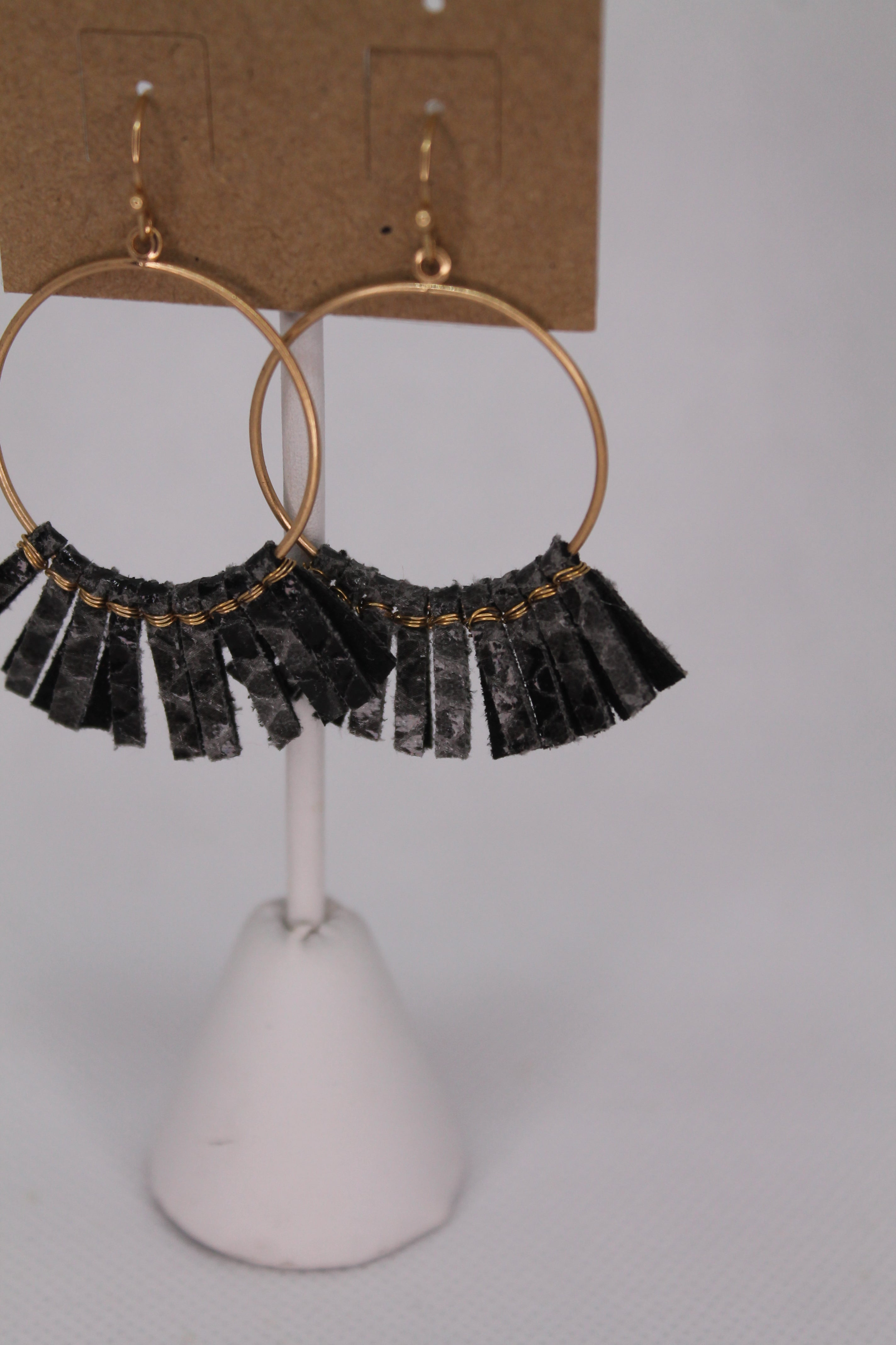 Leo Tassel Earrings