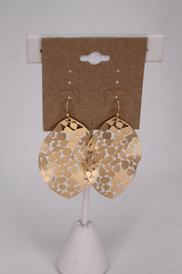 Hammered Metal Leaf Earrings