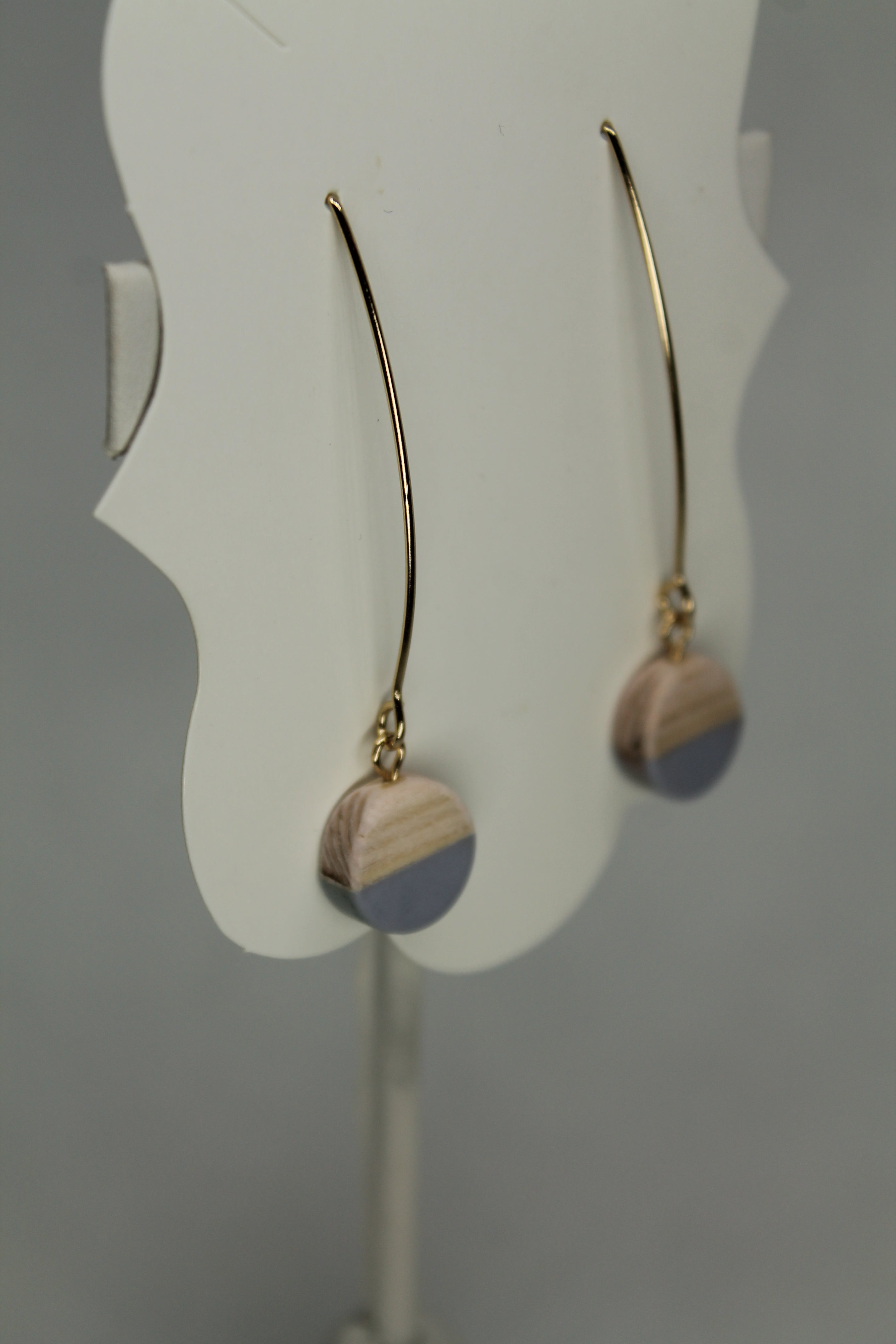 Paint Dipped Wood Earrings