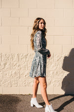 Flawless Snake Skin Wrap Dress