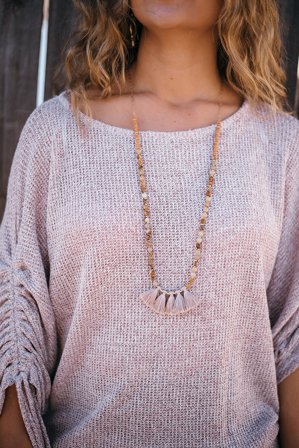Make A Wish Tassel Necklace