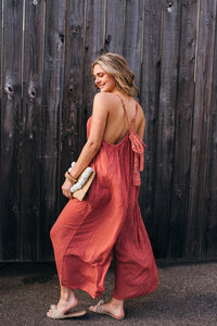 Floral & Striped Wide Leg Jumpsuit