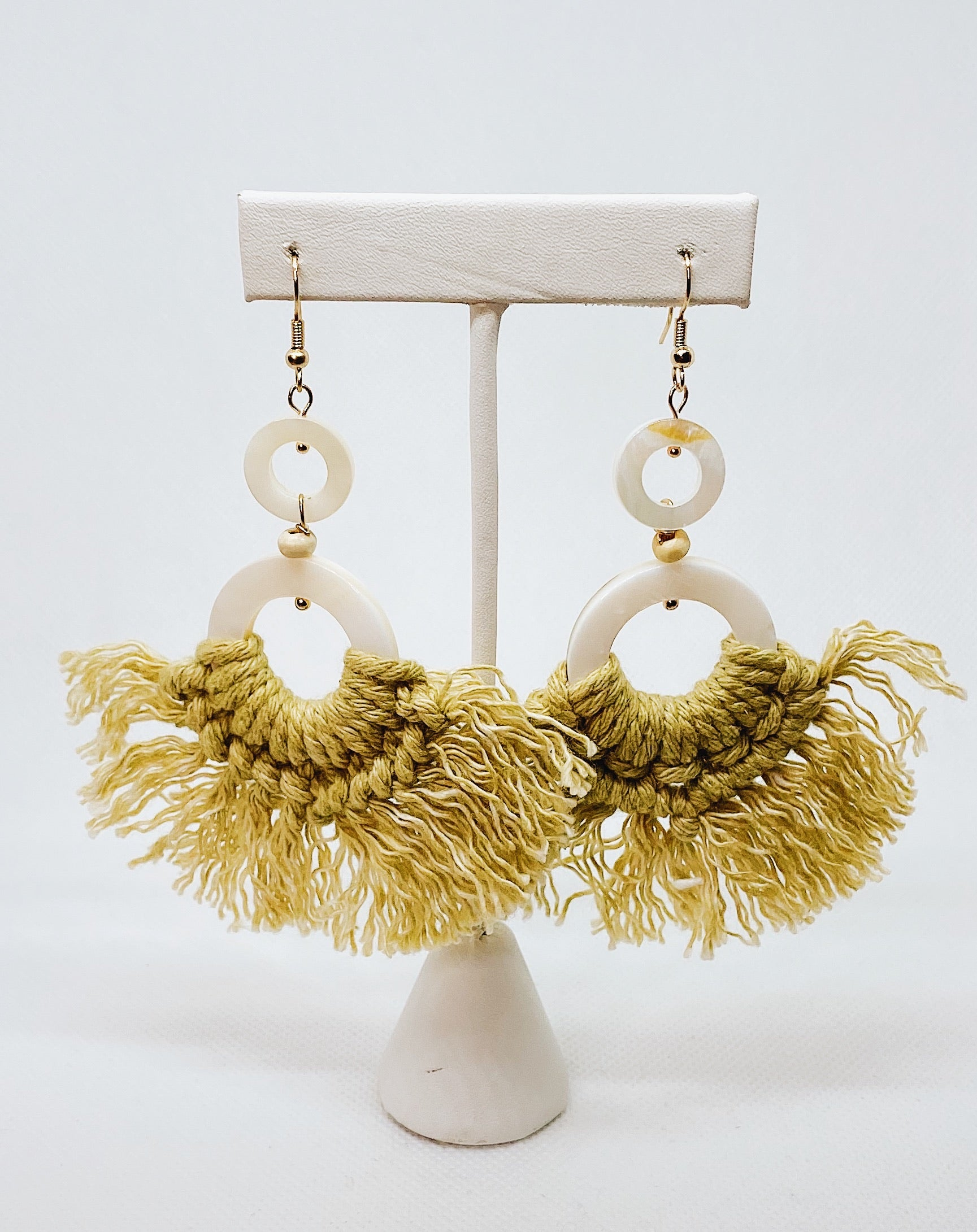 Marble Fringe Earrings