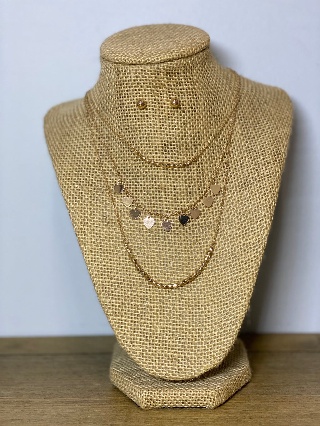 Layers Of Love Necklace & Earring Set