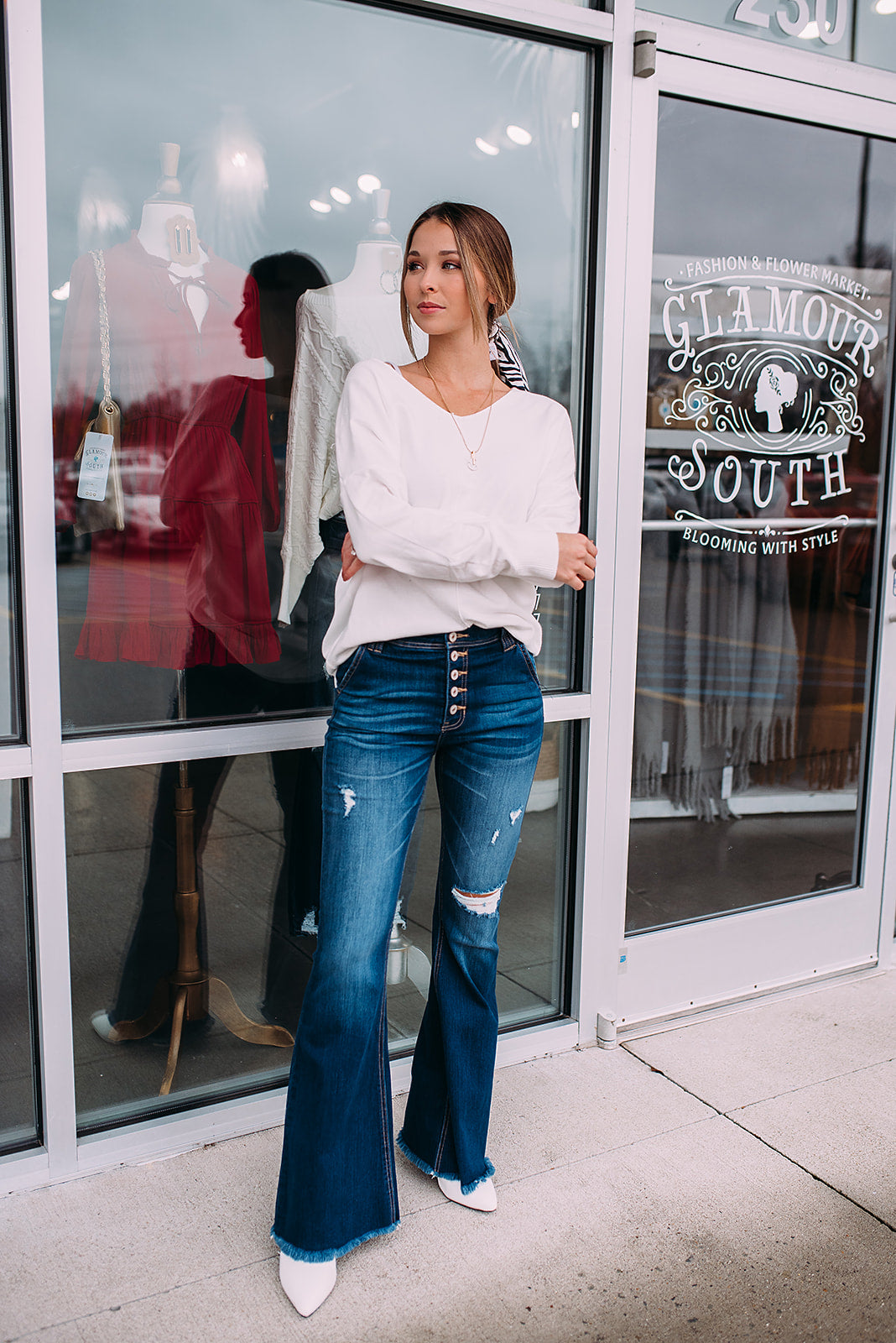 Hunter High Rise Flare Jeans