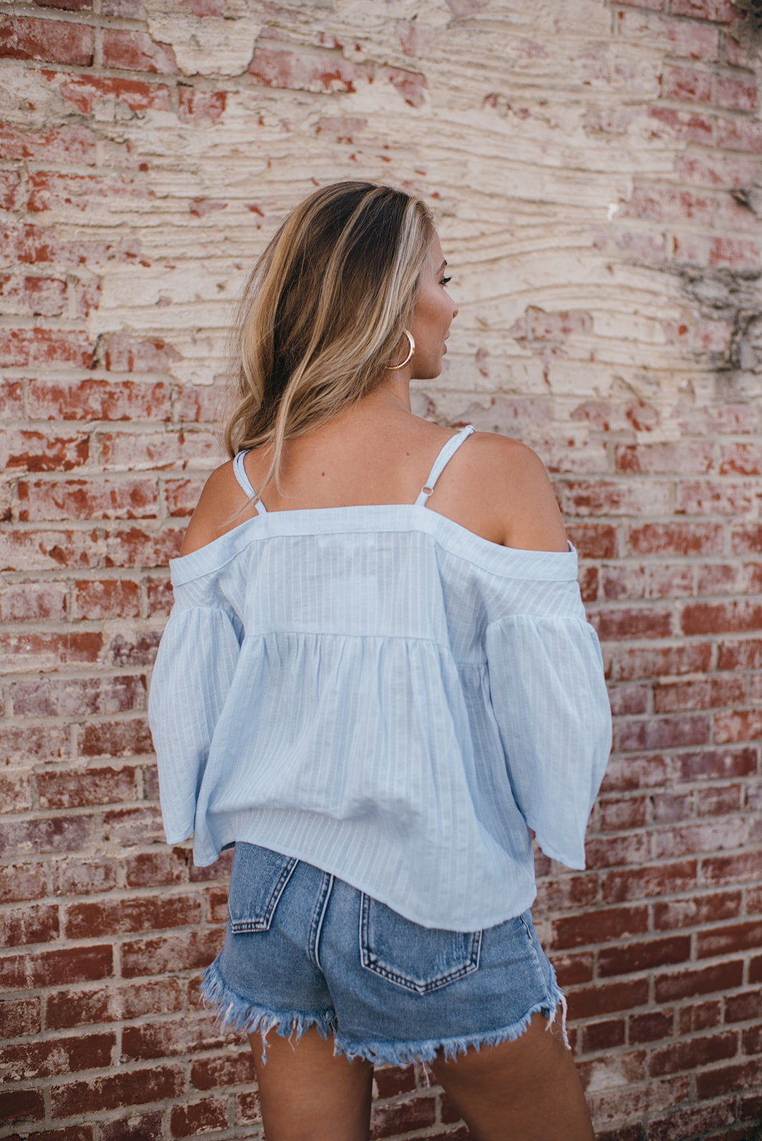 Carolina Girl Cold Shoulder Blouse