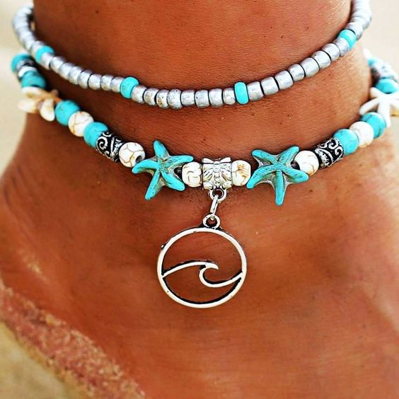 Handmade Anklet Featuring Charms Make it Sparkle