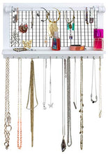 Load image into Gallery viewer, SoCal Buttercup White Jewelry Organizer with Removable Bracelet Rod