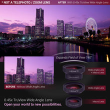Load image into Gallery viewer, Xenvo Pro Wide Angle Lens Kit with LED Light and Travel Case