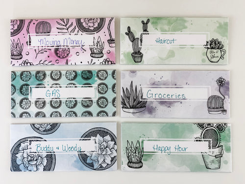 Succulent Cash Envelopes - Downloadable PDF