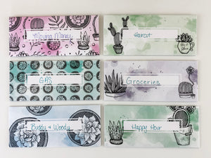 Succulent Cash Envelopes - Upgraded