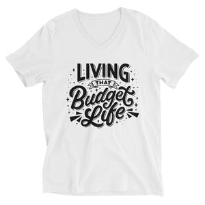 """Living That Budget Life"" Deep V-neck Tee"