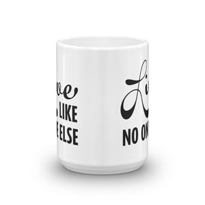 Black 'Live Like No One Else' Ceramic Mug