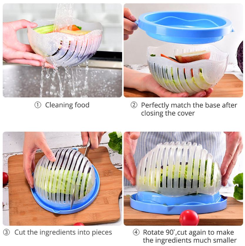 60 Second Magic Salad Cutter Bowl