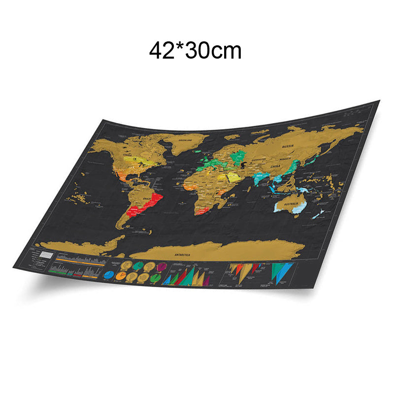 World Map Scratch Off