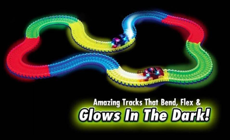 Glowing Race Tracks