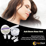 Anti Snoring Sleep Aid Stop Snore Nose Vents Snores Buster Device Better Sleep at Night Relax Breathe Easy