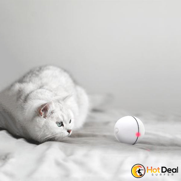 USB Rechargeable Cat Interactive Laser Magic Ball Toy with LED Laser Light Electric Rolling Ball Funny Toy Keep Your Pet Busy
