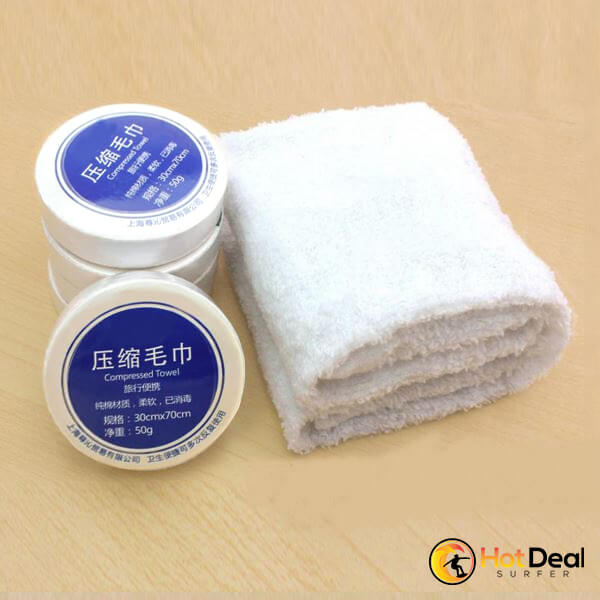 New Space Saving Cotton Hotels Camping Trip Practical Easy Carry Portable Towels Essential Travel Use Magic Compressed Towel