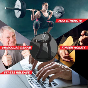5-60Kg Gym Fitness Hand Grip Men Adjustable Finger Heavy Exerciser Strength for Muscle Recovery Hand Gripper Trainer Stress Relief Reliever