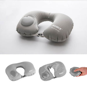 Self-Inflatable Travel Neck Pillow