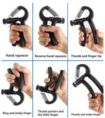 5-60Kg Gym Fitness Hand Grip Men Adjustable Finger Heavy Exerciser Strength for Muscle Recovery Hand Gripper Trainer