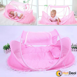 Infant Baby Bed Mosquito Net Folding Baby Crib Netting Newborn Protection Mesh Travel Portable Folding Baby Nets