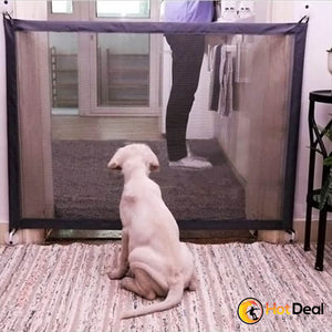 New Magic-Gate Dog Pet Fences Portable Folding Safe Guard Indoor and Outdoor Protection Safety Magic Gate For Dogs Cat Pet 2 Sizes Foldable